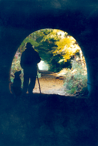tunnel, portrait, art, writing
